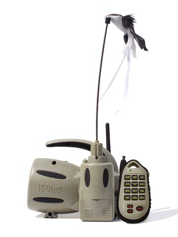 Icotec GC320 - Electronic Predator Game Call and Decoy Combo – Comes with 24 Calls – Tremendous Battery Life – 300-Yard Remote Range – Includes AD400 Decoy with LED Lights, Speed Dial, and More