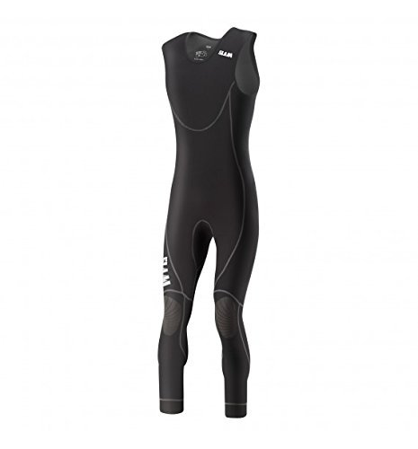 Slam Skiff Collection Men's 0.5mm Neoprene Long John Wetsuit Col. 500 Thermal Anatomic and Ergonomic fit Neo Black Long John Wetsuit Large ()