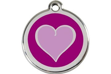 Purple Heart Pet Id Tag Small by Red Dingo