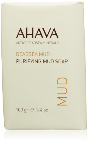 AHAVA Dead Sea Purifying Mud Soap, 3.4 Oz