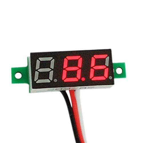 Volt Gauge Panel Meter with Red Digital Display, Sacow RD 0.36