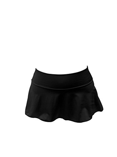 Flair Mini Skirt - Delicate Illusions Sexy Club Mini Soft Stretch Plus Size Dance Short Skirt for Women 4X (20-22) Black