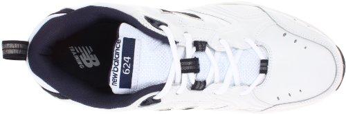 New Balance - Mens 624 Cushioning X-training Shoes, UK: 7 UK - Width 6E, White with Navy
