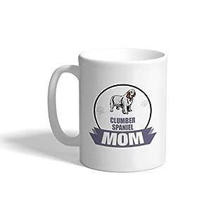 Custom Funny Coffee Mug Coffee Cup Mom Clumber Spaniel Dog White Ceramic Tea Cup 11 OZ Design Only 39