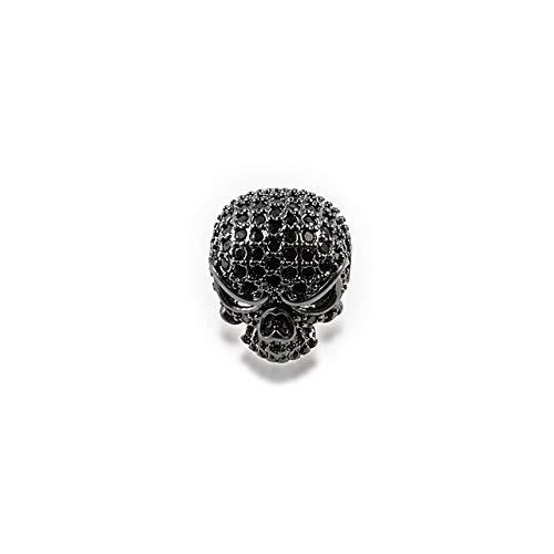 - OBELLA BOUTIQUE NEW Golden silver black Skeleton Spaced beads Micro Pave Zircon Skull Men's charm bracelet DIY accessories