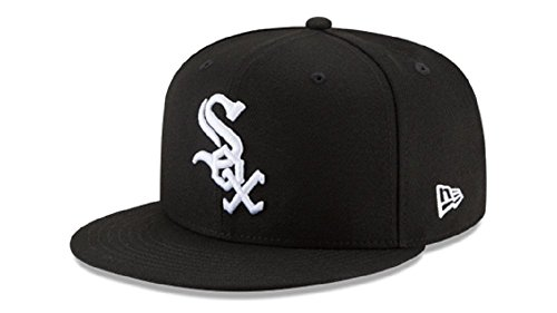 (New Era MLB Basic SNAP 950 Chicago WHITESOX Black White 9FIFTY Snapback)