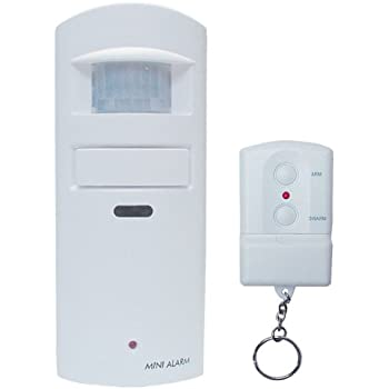 Wireless Motion Sensor Alarm With Built In 130Db SCREAM Siren. Perfect For  Small Businesses,