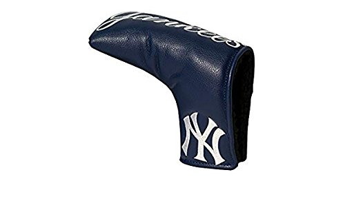 Team Golf MLB New York Yankees Golf Club Vintage Blade Putter Headcover, Form Fitting Design, Fits Scotty Cameron, Taylormade, Odyssey, Titleist, Ping, Callaway