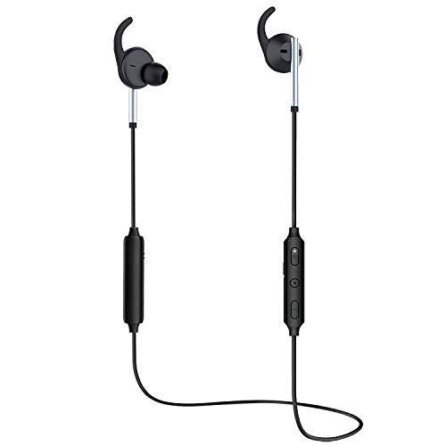Active Noise Cancelling Bluetooth Earphones with Microphone, Zhicity Bluetooth V4.1 Wireless Headphones in Ear Earbuds Deep Bass HiFi Stereo Sound, 8 Hrs Playtime for Travel, Work (Black)