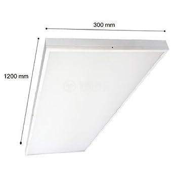 Profi LED Panel 40W Aufputz Aufbaupanel 120x30cm 6400K/3000K 3200LM (Neutralweiß/3000KL) defacto