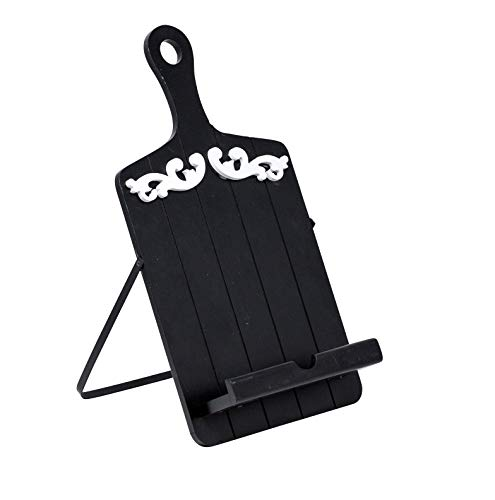 Boston Warehouse Cookbook and Tablet Holder, Black Scroll