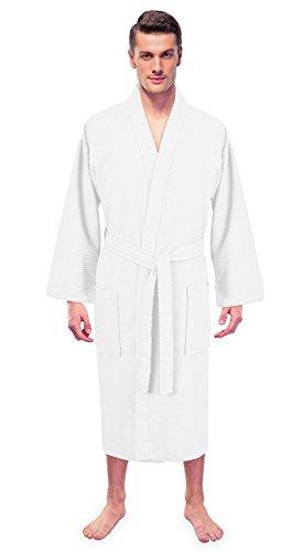 Toss Bath (Turkuoise Men's 100% Premium Turkish Cotton Lightweight Spa Bathrobe Made in Turkey)