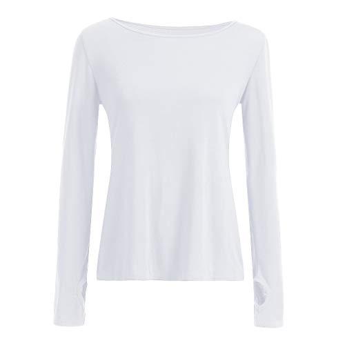 Open Tunica Shirt kword Bianco Blusa Palestra Canotta Yoga Maglietta Camicie Camicetta Sexy Activewear Pullover Muscolo Sport Camicia Da Donne Workout Back Top xAzwqan