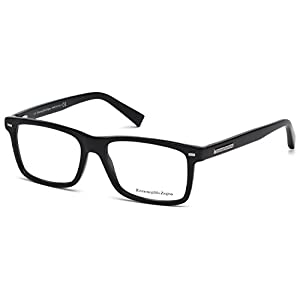 ERMENEGILDO ZEGNA Eyeglasses EZ5002 001 Shiny Black 54MM