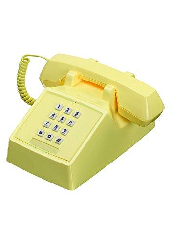 Wild & Wolf 2500 Phone Retro 80s Landline Home & Office Telephone (Lemon ()