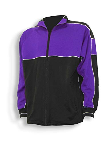 Code Four Athletics Sparta Soccer Poly-Knit Warmup Jacket - Size Adult L - Purple/Black ()
