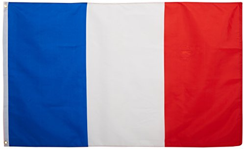 Quality Standard Flags France Polyester Flag, 3 by 5' -