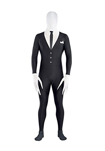 Amscan 844470 Adult Slender-Man Party Suit, up to 5' 10
