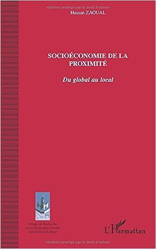 Livre Socioéconomie de la proximité : Du global au local pdf
