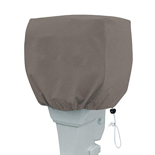 PrimeShield Heavy Duty Outboard Motor Cover 600D Waterproof Motor Hood Cover Dark Grey