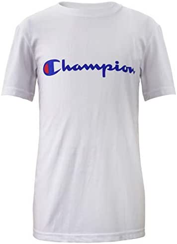 Champion Boys Short Sleeve Logo Tee Shirt