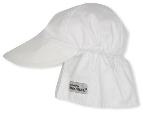 (Flap Happy Baby Newborn Original Hat, White,)