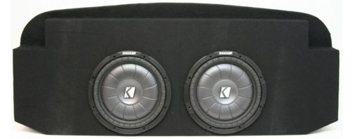 Compatible with Chevy Avalanche 02-09 Dual 12″ Kicker CVT12 Subwoofer Behind Seat Sub Box Enclosure 1600 Watts Peak