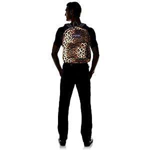 JanSport High Stakes Backpack - Black/Beige Cheetah / 16.7H x 13W x 8.5D