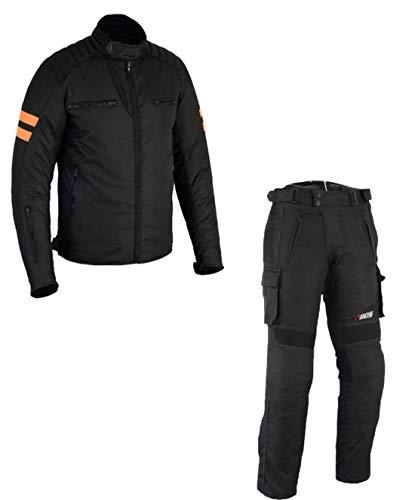 BOSMOTO Motorradkombi Biker Motorrad Textil Kombi wasserdichte Jacke+Hose