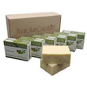 (Natural Olive Oil Soap with No Scents Handmade Cold Pressed Unprocessed Body Bath Kitchen Laundry Multi-Purpose Cleansing Bar Safe Hypoallergenic Washing Agent for Family - Ideal Gift Idea )