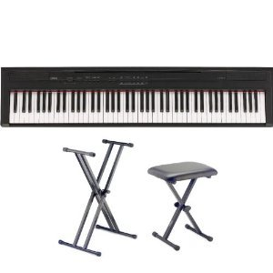 Yamaha P Series P35B 88-Key Digital Piano (Black) with Stand and Bench