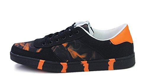Tda Mens Modern Färgutskrifter Syntetisk Tillfälliga Skateboard Skor Apelsin