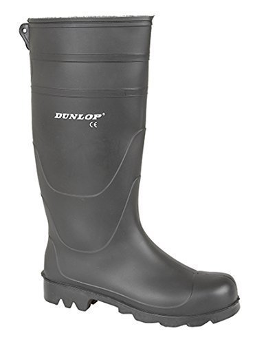 IMPERMEABILE di Dunlop Black Wellington 47 Stivali Wellington uomo Stivali gomma PHqZPwxg6