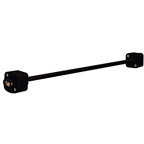 Satco TP166 Black 48 inch Extension Wand Track Lighting Track Standoff Rod (Light Satco Track)