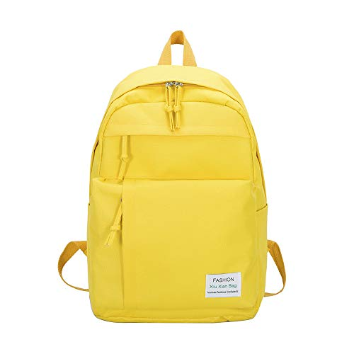 ♛HYIRI Casual Nylon Classic Couple Backpack,Women's Simple Versatile College Campus Backpack from HYIRI