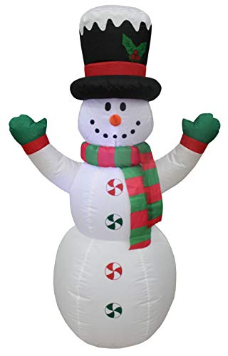 Impact Canopy Christmas Inflatable Yard Decoration, Blow Up Lighted Snowman, 4-Feet Tall