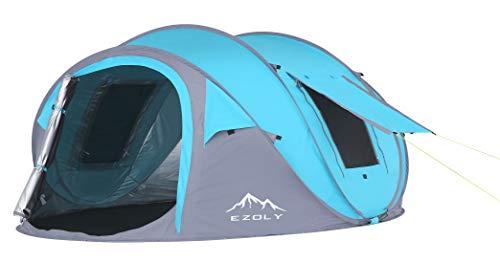 EZOLY 3-4 Personen Outdoor Wandern Einfach Pop Up Camping Zelt Automatische Einrichtung Zelte, wasserdichter…