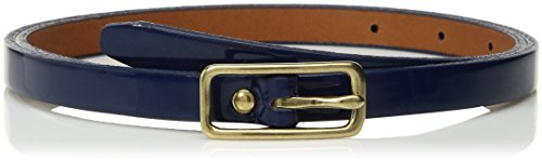 Circa Women's Handcrafted Patent Leather Belt, Navy Blue
