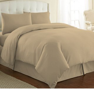 CASA COPENHAGEN Exotic Collection 800 Thread-Count Egyptian Cotton 3 pieces Double Duvet Cover Set, Flax Yellow