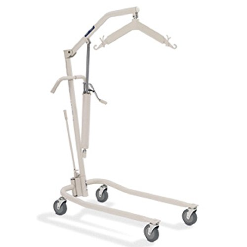 Hydraulic Patient Body Lift w/Adjustable Base & Patient Body Sling (Invacare 9805P) w/(Invacare Reliant Full Body Mesh Sling with Commode Opening - Extra-Large - R116)