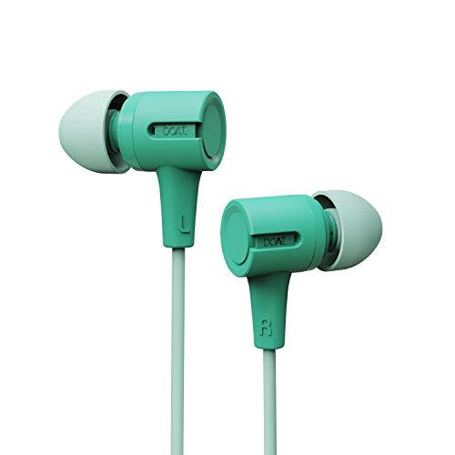 boAt Bassheads 102 in Ear Wired Earphones with Mic (Mint Green)