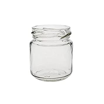 Viva Haushaltswaren Tarros de cristal para mermelada de tamaño mini (32 unidades 53 ml incluye embudo y tapa plateada): Amazon.es: Hogar