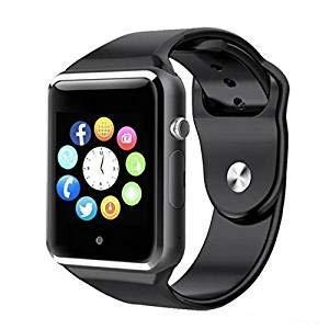 A1 Smartwatch Bluetooth Negro con SIM gsm Reloj con App ...