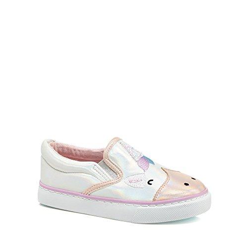 bluezoo Kids Girls' White Unicorn Slip