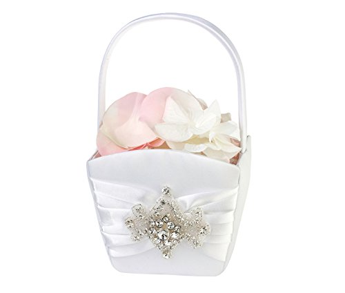 Basket Rhinestone Flower (Lillian Rose Glamorous Jeweled Rhinestone Flower Girl Basket)
