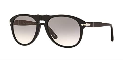 Persol Men's PO0649 Sunglasses Black/Crystal Grey Gradient 54mm