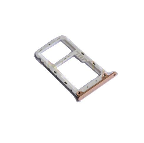 Price comparison product image Nano SIM / Micro SIM Card Tray Holder Micro SD Card Slot Holder Adapter for Xiaomi Redmi Note 5 Pro (Gold)