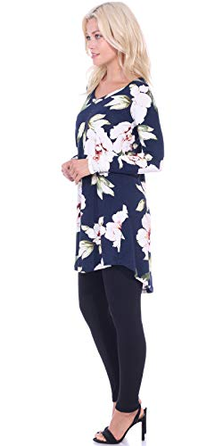 0dd7d82c6cd Popana Women s Tunic Tops for Leggings Long Sleeve Shirt Plus Size Made in  USA