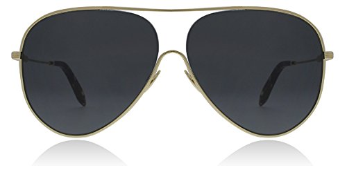 Victoria Beckham Women's Loop Aviator Sunglasses, Gold/Gris Fonce, One - Sunglasses Victoria Beckham Aviator