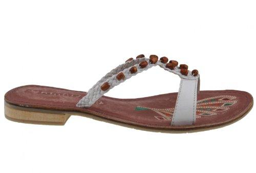Tamaris Damen Pantolette 1 27124 28 Weiss: : Schuhe